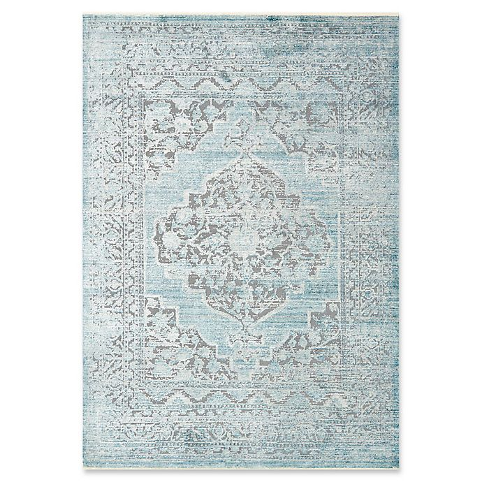 Alternate image 1 for Magnolia Home by Joanna Gaines Ophelia 12' x 15' Area Rug in Grey/Aqua