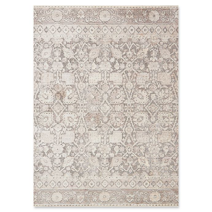 Alternate image 1 for Magnolia Home by Joanna Gaines Ophelia Loomed 9'6 Round Area Rug in Grey/Taupe