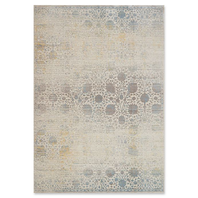 Alternate image 1 for Magnolia Home by Joanna Gaines Ella Rose 9'6 x 13' Area Rug in Bone/Mist