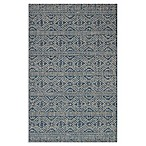Magnolia Home by Joanna Gaines Warwick 2' x 3'9 Indoor/Outdoor Accent Rug in Azure/Silver
