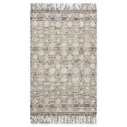 Magnolia Home by Joanna Gaines Holloway Fringe Area Rug in Grey