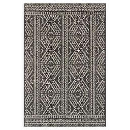 Magnolia Home by Joanna Gaines Warwick Indoor/Outdoor Rug in Black/Silver