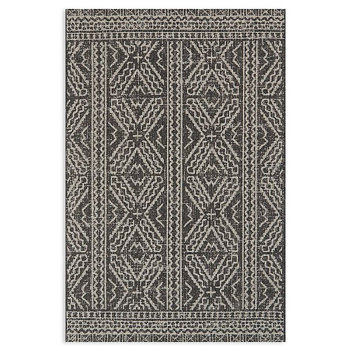 Alternate image 1 for Magnolia Home by Joanna Gaines Warwick 7'10 x 10'9 Indoor/Outdoor Area Rug in Black/Silver