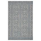 Magnolia Home by Joanna Gaines Warwick 3'11 x 5'10 Indoor/Outdoor Area Rug in Silver/Azure