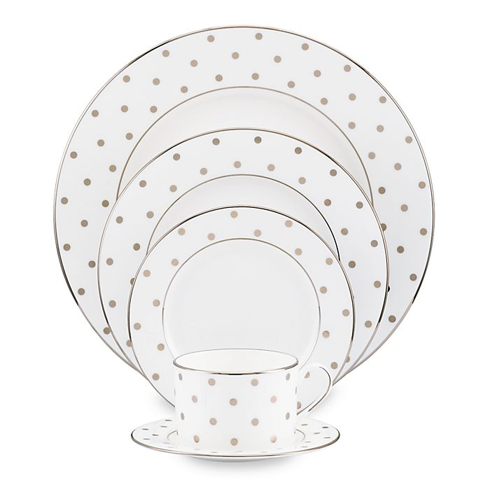 Alternate image 1 for kate spade new york Larabee Road™ Platinum Dinnerware Collection