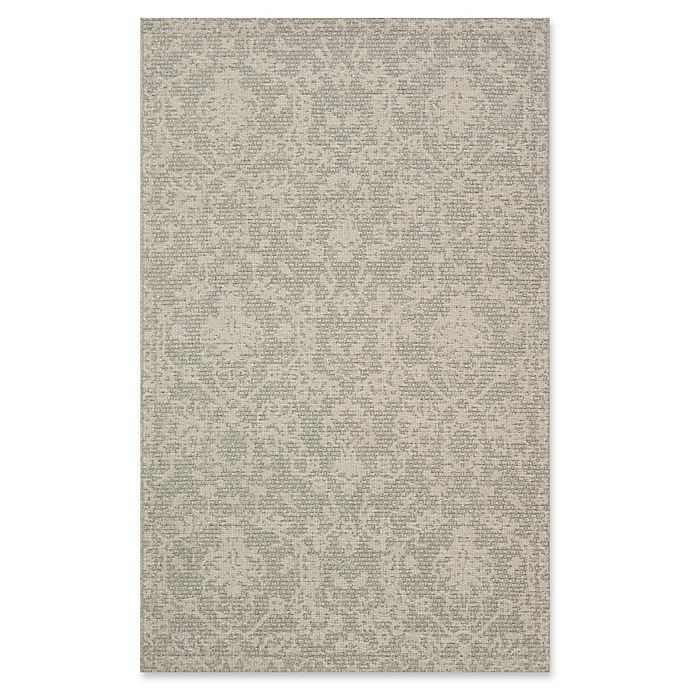 Alternate image 1 for Magnolia Home by Joanna Gaines Warwick 4'11 x 7'7 Indoor/Outdoor Area Rug in Grey/Silver