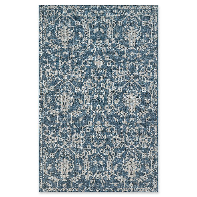 Alternate image 1 for Magnolia Home by Joanna Gaines Warwick 9'2 x 12'1 Indoor/Outdoor Area Rug in Azure/Grey