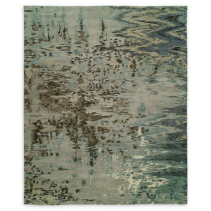 Alternate image 1 for Natori® Dynasty Mirage 6' x 9' Hand-Knotted Area Rug in Blue