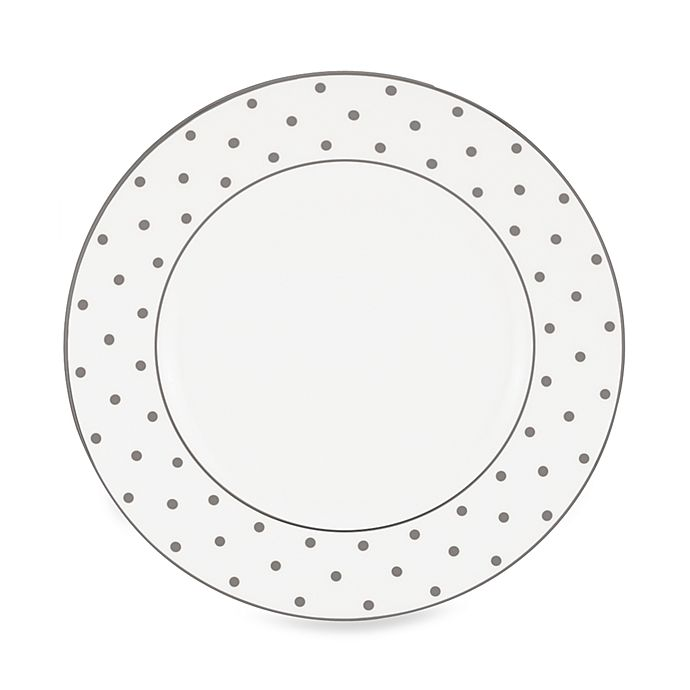 Alternate image 1 for kate spade new york Larabee Road™ Platinum Dinner Plate