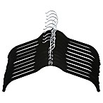 Joy Mangano Huggable Hangers® 10-Pack Shirt Hangers in Black