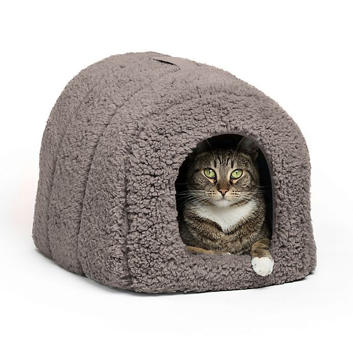 Alternate image 1 for Best Friends by Sheri Pet Igloo in Sherpa Grey