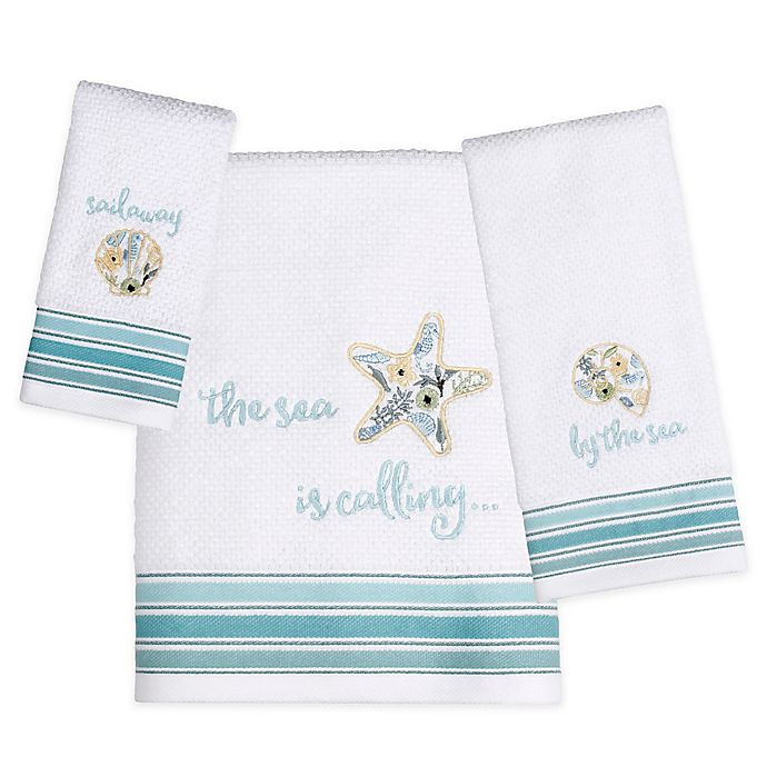 Alternate image 1 for Saturday Knight Seaside Blossoms Bath Towel Collection