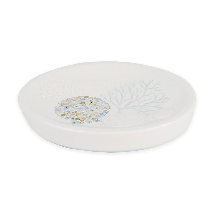 Alternate image 1 for Saturday Knight Seaside Blossoms Soap Dish in White