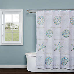 SKL Home Seaside Blossoms Shower Curtain in White