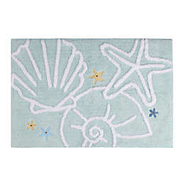 Saturday Knight Seaside Blossoms Bath Mat Collection