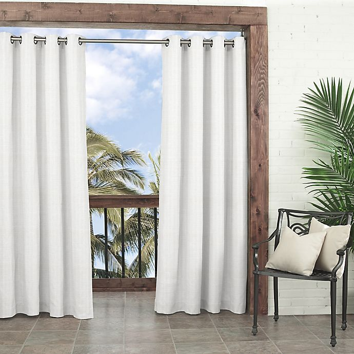 Alternate image 1 for Parasol Key Largo 84-Inch Grommet Indoor/Outdoor Window Curtain Panel in White