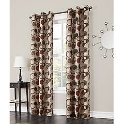 No.918®Julia 84-Inch Grommet Top Window Curtain Panel in Paprika
