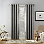 Sun Zero Baxter 63-inch Rod Pocket Extreme Blackout Window Curtain Panel in Grey