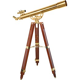Barska® 36x80mm Ancormaster Brass Telescope with Mahogany Tripod