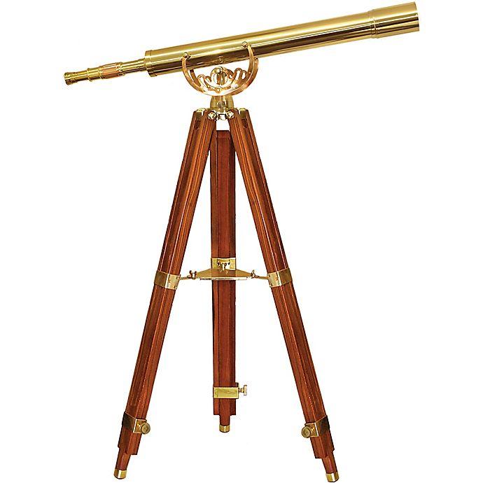 Alternate image 1 for Barska® 36x80mm Anchormaster Brass Telescope with Mahogany Tripod