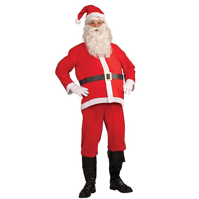 Alternate image 1 for Santa Clause One-Size Disposable Adult Halloween Costume
