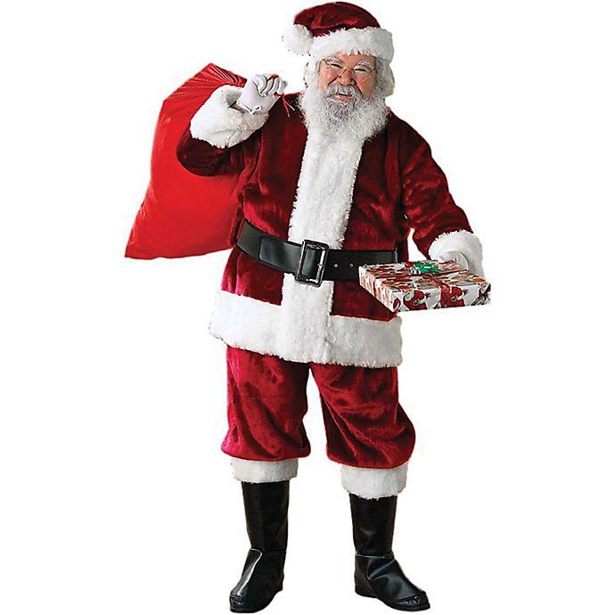 Alternate image 1 for Crimson Regency Plush Santa Suit One-Size Adult Costume