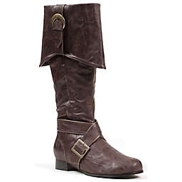 Men's Knee-High Halloween Size Small Pirate Boots in Brown