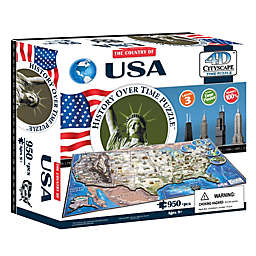 4D Cityscape Time USA Puzzle