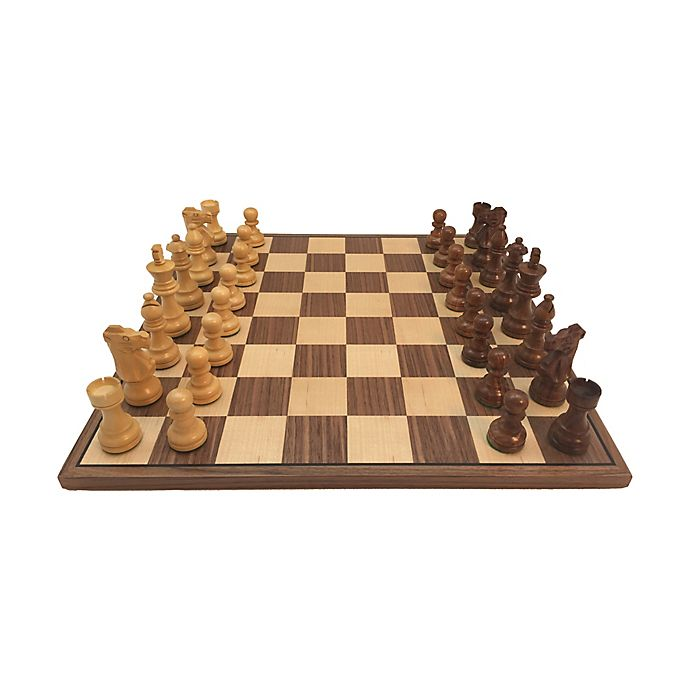 Alternate image 1 for WorldWise Imports 3.5-Inch Sheesham French Chess Set with Walnut Board
