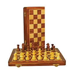 WorldWise Imports 14-inch Sheesham and Maple Folding Chess Set