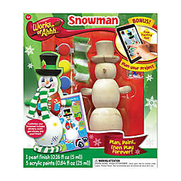 Masterpieces Puzzles Works of Ahhh Winter Snowman Wood Painting Kit