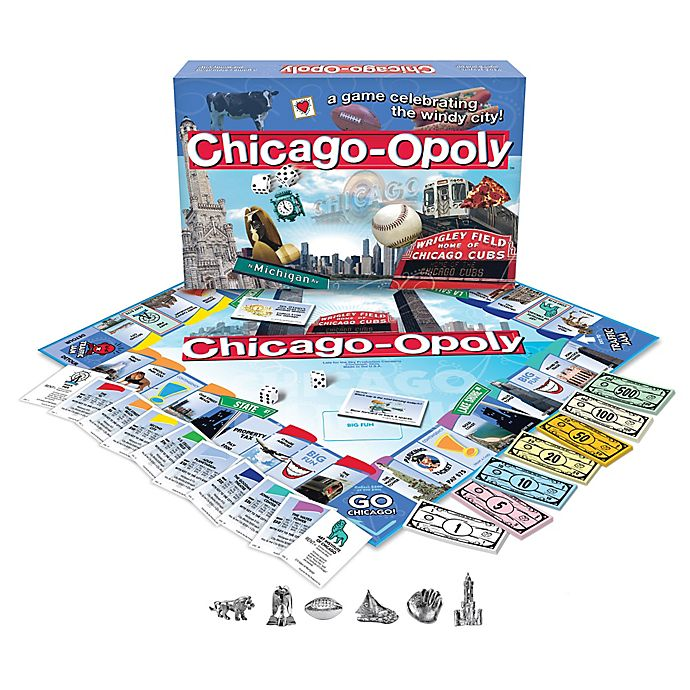Alternate image 1 for Late For The Sky Chicago-opoly Game