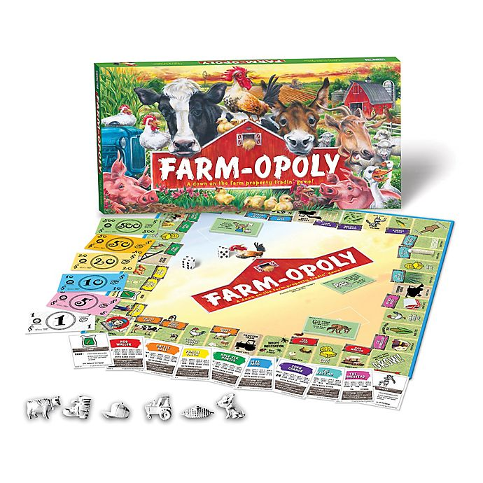 Alternate image 1 for Late For The Sky Farm-opoly Game