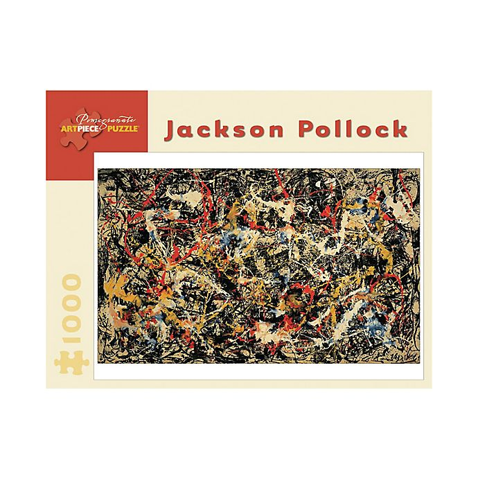 Alternate image 1 for Jackson Pollock Convergence Puzzle 1000-Piece Jigsaw Puzzle