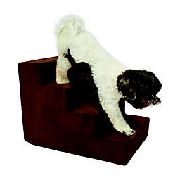 Precious Tails High Density Foam 4 Steps Pet Stairs in Brown