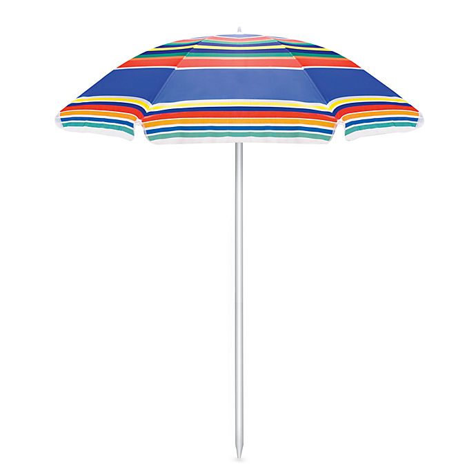 Alternate image 1 for Picnic Time® Portable Umbrella in Stripes