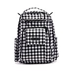 Ju-Ju-Be® Onyx Be Right Back Backpack Style Diaper Bag in Gingham Style