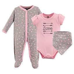 Hudson Baby® 3-Piece Love Layette Set