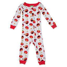 Sesame Street® Hi Elmo Long Sleeve Coverall in Red/White