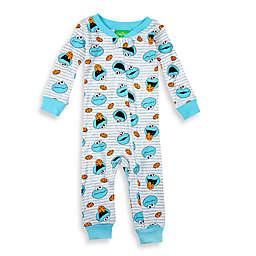 Sesame Street® Striped Cookie Monster Footless Pajama