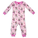 Disney® Size 2T Minnie Mouse Long Sleeve Coverall in Pink