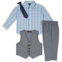 Nautica® Size 4-Piece Shirt, Pants, Vest and Tie Set in Grey