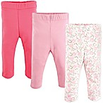 Luvable Friends® Size 9-12M 3-Pack Rose Leggings in Pink