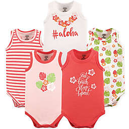 Luvable Friends® 5-Pack Aloha Bodysuits in Pink/Coral