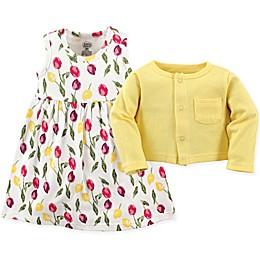 Luvable Friends® 2-Piece Floral Dress and Cardigan Set
