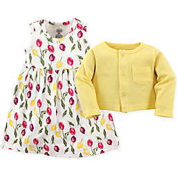 Luvable Friends® Size 18-24M 2-Piece Floral Dress and Cardigan Set