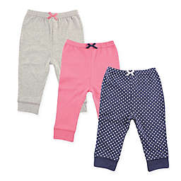 Luvable Friends® Size 9-12M 3-Pack Polka Dot Pants in Navy/Pink