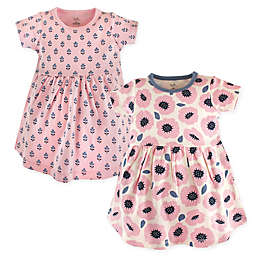 Touched by Nature Blossoms 2-Pack Organic Cotton Dresses in Pink
