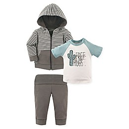 Yoga Sprout 3-Piece Free Hugs Jacket, Top and Pant Set in Teal