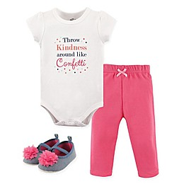 Little Treasure Kindness Bodysuit, Pant, and Shoe Set